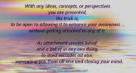 Allowing Awareness