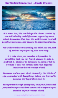 Our Unified Connection - Innate Oneness